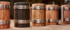 Check out these cool Wooden Beer Mugs, completely hand crafted from high-quality materials and assembled using the oldest barrel making techniques Hawke Dragon Age, Dragon Age 2, Wooden Beer Mug, Beer Mugs, Woodworking Box, Woodworking Projects Plans, Green Shield, Medieval, Vases