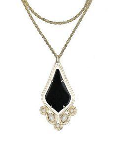 Teresa Pendant Necklace in Black - Kendra Scott Jewelry. Coming soon!