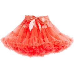 fedb7b0b76 ANGEL'S FACE Neon Orange Chiffon Frilled Tutu Skirt Frill Tops, Crown  Headband, Tulle Dress