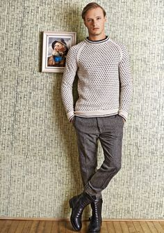 Ravelry: Islender genser pattern by Sandnes Design Men Dress Up, Icelandic Sweaters, How To Purl Knit, Knitting Designs, Sweater Weather, Knit Crochet, Men Sweater, English, Men's Knits