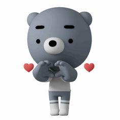 Animiertes Gif, Hug Gif, Animated Emoticons, Animated Gif, Emoji Images, Funny Images, Bisous Gif, Gif Lindos, Bear Gif