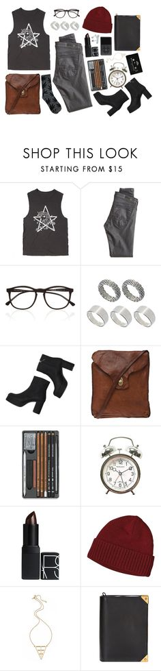 """Grunge (Contest)"" by emc1397 ❤ liked on Polyvore featuring My Little Pony, AG Adriano Goldschmied, Illesteva, ASOS, Monki, Campomaggi, NARS Cosmetics, Patagonia, CASSETTE and Elizabeth and James"