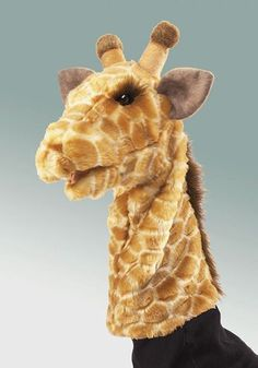 The GIRAFFE STAGE PUPPET features a soft movable mouth and beautiful patterning…
