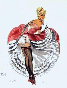 Huertas, Alice - Brigitte, 1950s Alice, Single Women, Dancers, Pinup, 1950s, Princess Zelda, Fictional Characters, Art, Flamingo