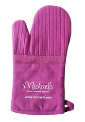 Oven Mitt with Silicone Stripes (Select Colors)