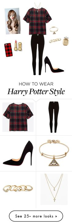 """Untitled #587"" by feasi on Polyvore featuring River Island, Samsung, Christian Louboutin, LOFT, GUESS, Alex and Ani and Victoria's Secret"
