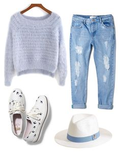 """Baby blue"" by sunshine1877 ❤ liked on Polyvore featuring Melissa Odabash, MANGO and Keds"