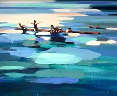 "Saatchi Art Artist Elizabeth Lennie; Painting, ""Rabbit Lake 30"" #art"