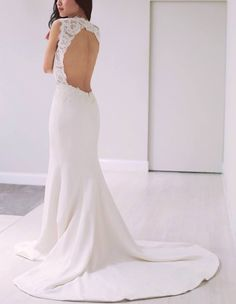 Wedding Dress Silhouette 101 with Extra Petite – Style Me Pretty Sheer Wedding Dress, Open Back Wedding Dress, Bohemian Wedding Dresses, Wedding Dress Sleeves, Bridal Dresses, Wedding Gowns, Wedding Attire, Super Petite, Extra Petite