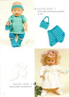 Albumarkiv Doll Patterns, Clothing Patterns, Knitting Patterns, Knitting Dolls Clothes, Doll Clothes, Baby Born Clothes, Diy Doll, American Girl, Baby Dolls