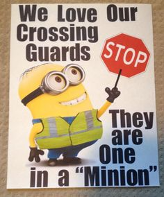 Much appreciated by all Crossing Guards who are out there everyday to insure the safety of our children.