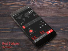 Red stripes Android Homescreen by viveks - MyColorscreen
