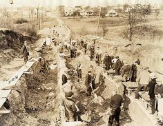 1931, grading project on Eastern Avenue created work for unemployed in Great Depression