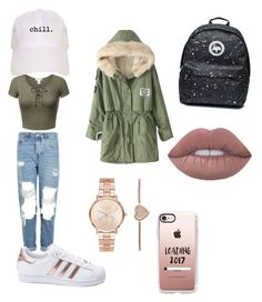 """""""Ripped jeans"""" by amayaw456 on Polyvore featuring Topshop, adidas, Casetify and Michael Kors"""