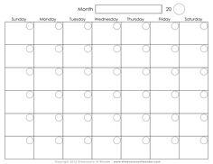 fillable printable calendar