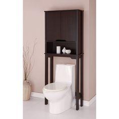 Over Toilet Spacesaver Cabinet- Espresso by Organize It All – 16151W1P – Organize.com