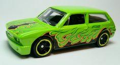 Volkswagen Brasilia    Produced  2012  Green, Orange and Black flames