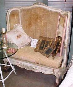 Altered bed bench. Yes, I know it's not a chair...but it's great!