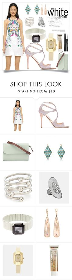 """""""The white fashion"""" by camry-brynn ❤ liked on Polyvore featuring Monique Lhuillier, Jimmy Choo, Ally Capellino, Diane Von Furstenberg, Michael Kors, Avenue, Isabel Marant, Marco Ta Moko, Xen-Tan and Dolce&Gabbana"""
