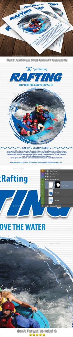 Rafting Club Team Flyer — PSD Template • Only available here ➝ https://graphicriver.net/item/rafting-club-team-flyer-template-126/17705894?ref=pxcr