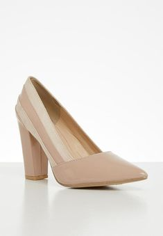 Slip-on style. Court Shoes, Block Heels, Two By Two, Blush, Footwear, Slip On, Pumps, How To Wear, Women