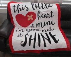 Heart warrior blanket CHD warrior 29 x 35 blanket