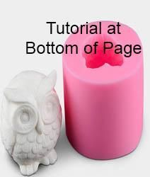 Many uses are possible with this mold. To make a candle using this mold pierce top of mold where you would like the wick to b. Soap Molds, Silicone Molds, Small Owl, Candle Making, Making Ideas, Wax, Candles, Store, Storage