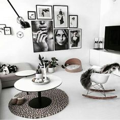Very unique gallery wall with B&W fashion photography. Not so much into portrait. Very unique gallery wall with B&W fashion photography. Not so much into portraits and more into art travel photograp Decoration Inspiration, Interior Inspiration, Decor Ideas, Decorating Ideas, Home Living Room, Living Room Decor, Decor Room, Wall Decor, Minimalist Interior