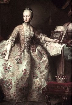 A portrait of Maria Anna of Austria by Martin van Meytens. Maria Anna was the second daughter of Empress Maria Theresa and an elder sister of Marie Antoinette.