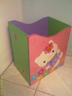 Papelera madera Toy Chest, Storage Chest, Cabinet, Toys, Pastel, Furniture, Home Decor, Crates, Wood