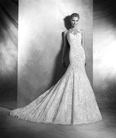 Carezza, Brautkleid im Meerjungfrau-Stil, herzförmiges Dekolleté, romantischer Stil