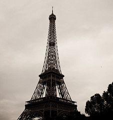 Gloomy Eiffel Tower