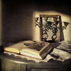 Old book and a lovely light