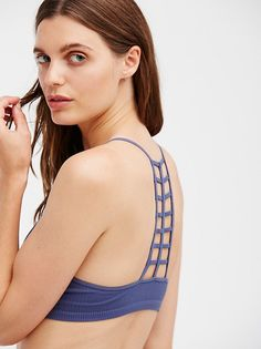 Ladder Racerback Bralette | Ribbed V-neck bralette featuring a ladder racerback.  American made.