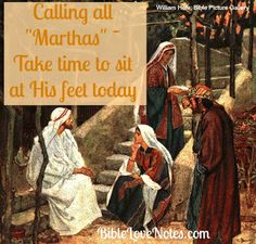 """Are you a Mary who understands the importance of time with the Lord? Most of us are """"Marthas"""" who need to be reminded to stop serving long enough to listen and be refreshed."""