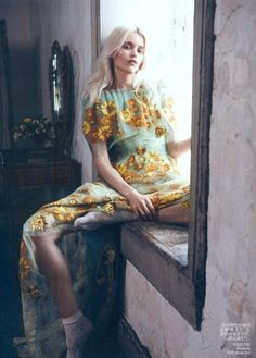 Floral print dress, Rodarte....I wish I could afford to dress this way everyday of my life