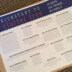 Kickstart to Clutter Free - Day 1 —I am tackling the clutter in my home with Kathi Lipp's eCourse