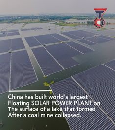. . . . . Floating solar is getting bigger in China and here is the world's greatest 'Floating solar plant' project under construction since July 2017 in the Eastern Province of 'Anhui'. This 150MW project with 166000  glistening solar panels producing almost enough clean energy to supply power a Large town.  This whole facility will come online by may 2018 and it will cost around 113 Million. . Follow @t3chformation for more tech updates . . #solarplant #solar #technology #china #tech…