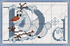 Uma linda semana a todos!  Hoje um lindo monograma do filme Frozen, em ponto cruz e seus personagens feito pela amiga Carina Cassol:       ...