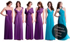 sakura convertible long dress, perfect bridesmaid dress