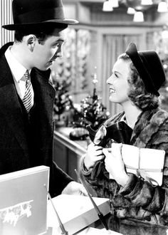 SHOP AROUND THE CORNER (1940) a holiday classic directed by Ernst Lubitsch; starring James Stewart, Margaret Sullivan and Frank Morgan.