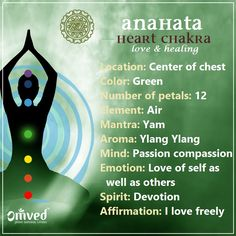 "The Anahata or HEART Chakra connects us to our emotional self bringing harmony, forgiveness, sincerity and compassion. This Chakra is our ""love and compassion""."