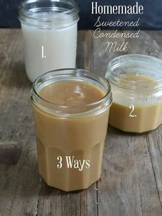 DIY Homemade Sweetened Condensed Milk - Dairy or dairy-free. Get this super simple, tested recipe for homemade sweetened condensed milk—made 3 ways, with whole milk, with evaporated milk or dairy free! Dairy Free Recipes, Real Food Recipes, Dessert Recipes, Cooking Recipes, Yummy Food, Drink Recipes, Homemade Sweetened Condensed Milk, Condensed Milk Recipes, Substitute For Condensed Milk