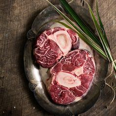 Ever had Osso Buco before? It's a fancy cut with a bone right in the middle that offers up delicious and nutrient-rich bone marrow for the taking. Check it out in the Grass Fed Beef section at FarmerGirlMeats.com!