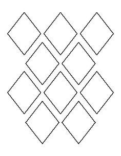 3 Inch Diamond Pattern