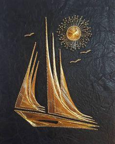 Arte Linear, Linear Art, String Art Templates, String Art Patterns, Barn Wood Crafts, Gold Work, Diy Wall Art, Painting Patterns, Islamic Art