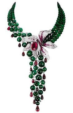 Orchid necklace | Cartier