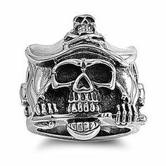 Stainless Steel Pirate Skull Ring Sizes 9 to 13 Kriskate & Co.. $23.99