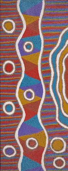 Ngapa Jukurrpa (Water Dreaming) - Pirlinyarnu by Kasey-Anne Nampijinpa Gallagher
