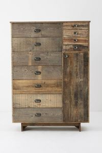 Rustic chest of drawers Reclaimed Wood Furniture, Pallet Furniture, Home Furniture, Furniture Design, Salvaged Wood, Repurposed Wood, Furniture Storage, Furniture Plans, Driftwood Furniture